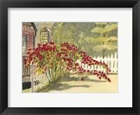 Framed Watercolor Garden VI