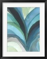 Framed Big Blue Leaf I