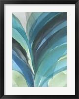Framed Big Blue Leaf II