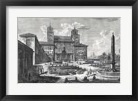 Framed Veduta della Villa Medici