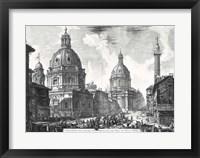 Framed Veduta della du Chiese della Madonna