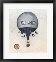 Vintage Hot Air Balloons II Framed Print