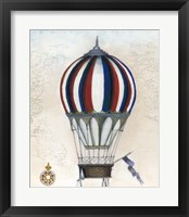 Vintage Hot Air Balloons VI Framed Print