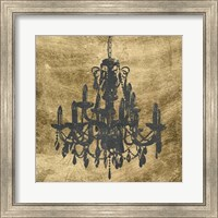 Framed Gilt Chandelier VII