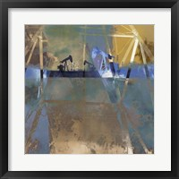 Framed Oil Rig Abstraction I