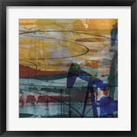Framed Oil Rig Abstract