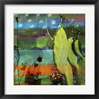 Framed Cactus & Flag Collage