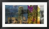 Fort Worth Collage II Framed Print
