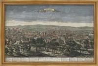 Framed Bird's Eye View of Rome