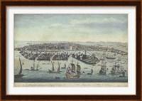 Framed Bird's Eye View of Venice