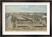 Framed Bird's Eye View of Louvre