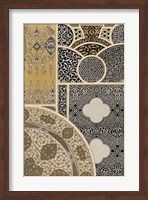 Framed Ornament in Gold & Silver III