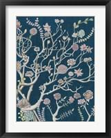 Indigo Night Chinoiserie II Framed Print