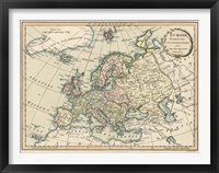 Framed Historic Map of Europe