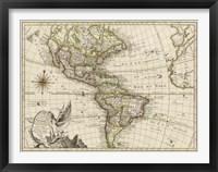 Framed New Map of America, 1769