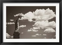 Framed Liberty in the Clouds