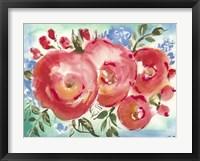 Framed Bed of Roses I