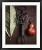 Framed Leaf with Pear 1