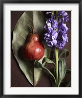 Framed Leaf with Pear 2