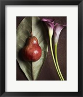Framed Leaf with Pear 3
