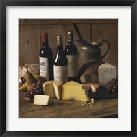 Framed Wine And Cheese 2