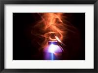 Framed Flaming Bottle 2