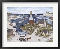 Framed Picnic At Windy Bay