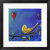Framed Song Bird III