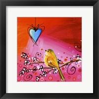 Framed Song Bird IX