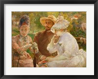 Framed On The Terrace In Sevres With The Painter Henri Fantin-Latour