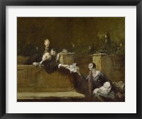 Framed Court Scene