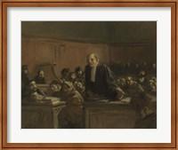Framed Court Scene - Speech For The Defense, 1907