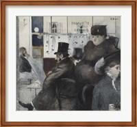 Framed Interior Of The Cafe Nouvelle Athenes