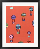 Framed Balloons - Red