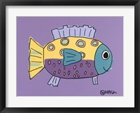 Framed Purple Fish