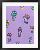 Framed Balloons - Purple