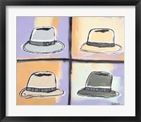 Framed Four Hats