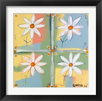 Framed Four Daisies