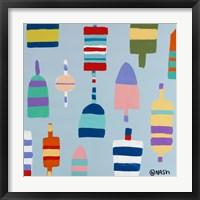 Buoys Blue Framed Print