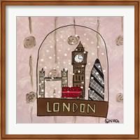 Framed London Snow Globe