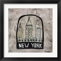 Framed New York Snowglobe