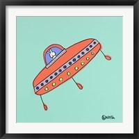 Framed UFO Lala -Teal