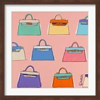 Framed Kelly Bags - Pink