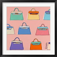 Framed Kelly Bags - Pink