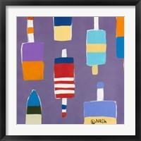 Buoys Purple Framed Print