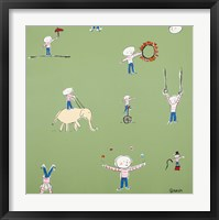 Barnaby Is Practicing For When He Runs Away And Joins The Circus Framed Print
