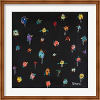 Framed Little Birds - Black