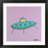 Framed UFO Lala - Purple