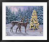 Framed White-tail Christmas