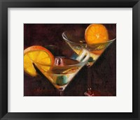 Framed Orange Martini Cocktail